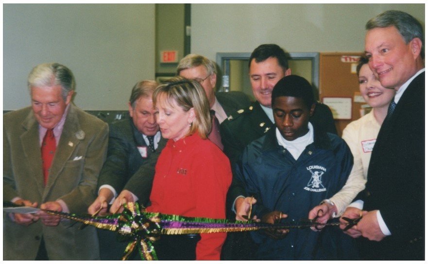 Ribbon cutting when LRCE started